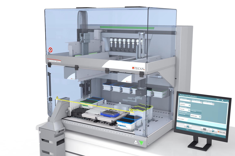 Robotické linky pro purifikace nukleových kyselin